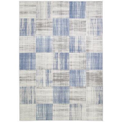 Courtyard Robson Modern Rug, 330x240cm, Blue / Grey