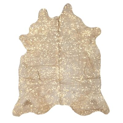 Exquisite Natural Cowhide Rug, 170x180cm, Gold
