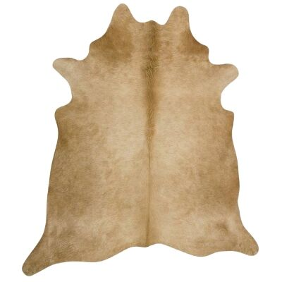 Exquisite Natural Cowhide Rug, 170x180cm, Beige