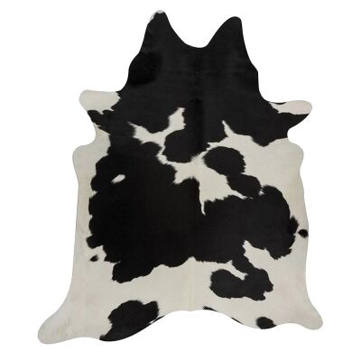Exquisite Natural Cowhide Rug, 170x180cm, Black/White