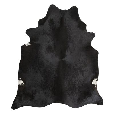 Exquisite Natural Cowhide Rug, 170x180cm, Black