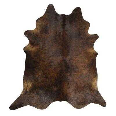 Exquisite Natural Cowhide Rug, 170x180cm, Dark Brindle