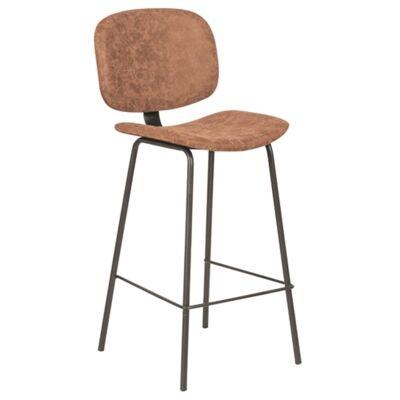 Birmington PU Leather & Steel Counter / Bar Chair, Brown