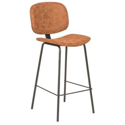 Birmington PU Leather & Steel Counter / Bar Chair, Toffee
