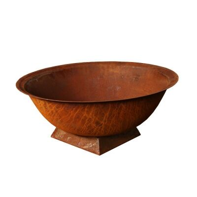 Pate Cast Iron Bowl Planter / Fire Pit on Trivet, Small