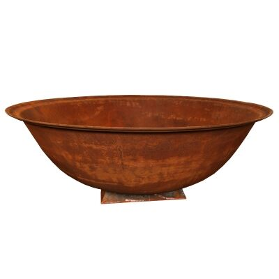 Pate Cast Iron Bowl Planter / Fire Pit on Trivet, Extra Large