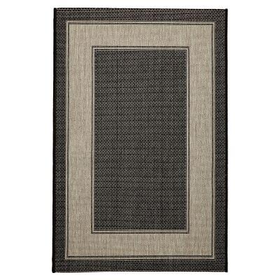 Craft No.391 Modern Indoor / Outdoor Rug, 120x80cm, Black