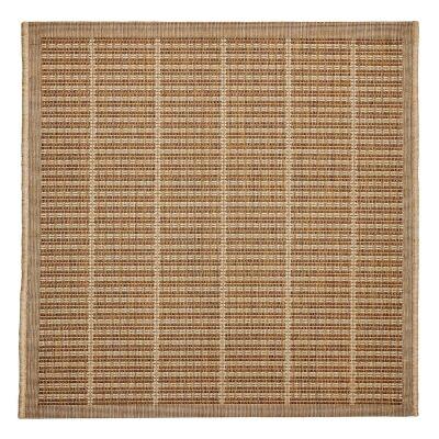 Craft No.392 Modern Square Indoor / Outdoor Rug, 240cm, Beige