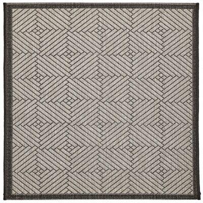 Craft No.394 Modern Square Indoor / Outdoor Rug, 240cm, Silver