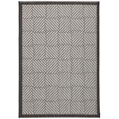 Craft No.394 Modern Indoor / Outdoor Rug, 330x240cm, Silver