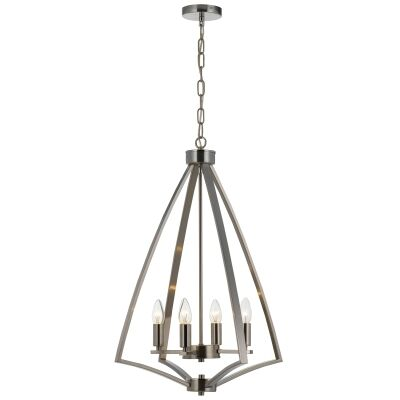 Crispin Metal Pendant Light, Nickel