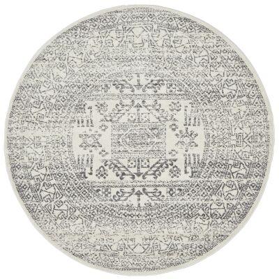 Chrome Addison Modern Tribal Round Rug, 150cm