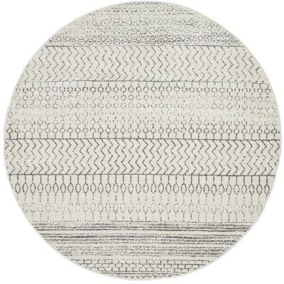 Chrome Harper Modern Tribal Round Rug, 240cm