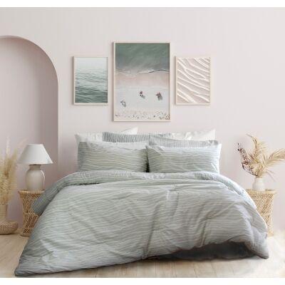 Ardor Waves 3 Piece Comforter Set, Single / Double