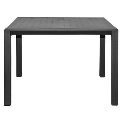 Aria Italian Made Commercial Grade Outdoor Square Coffee Table, 60cm, Anthracite