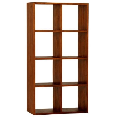 Eduard Solid Mahogany Timber Display Shelf, Light Pecan