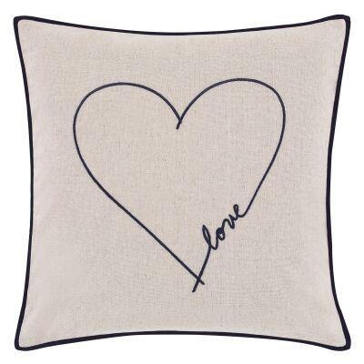 ED By Ellen Degeneres Love Scatter Cushion, Beige / Navy