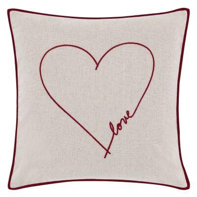 ED By Ellen Degeneres Love Scatter Cushion, Beige / Red