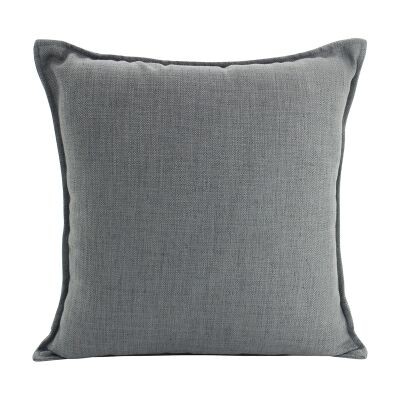 Farra Linen Euro Cushion, Dark Grey