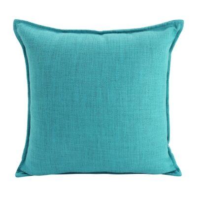 Farra Linen Euro Cushion, Turquoise