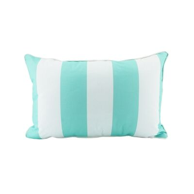 Minell Stripe Lumbar Cushion, Mint
