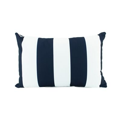 Minell Stripe Lumbar Cushion, Navy
