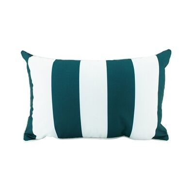 Minell Stripe Lumbar Cushion, Emerald