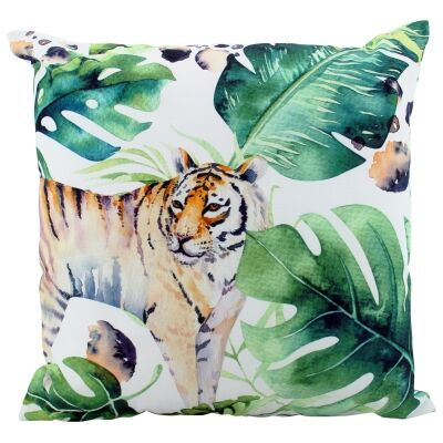 Jungle Tiger Indoor / Outdoor Double Sided Scatter Cushion
