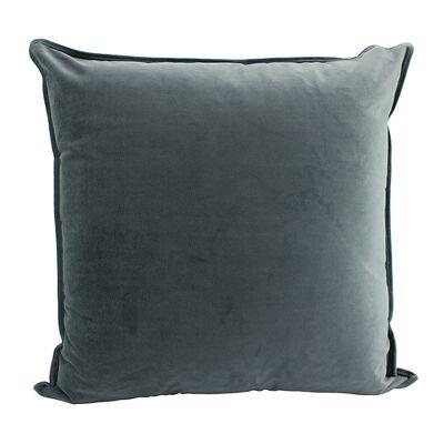 Maldon Velvet Floor Cushion, Charcoal