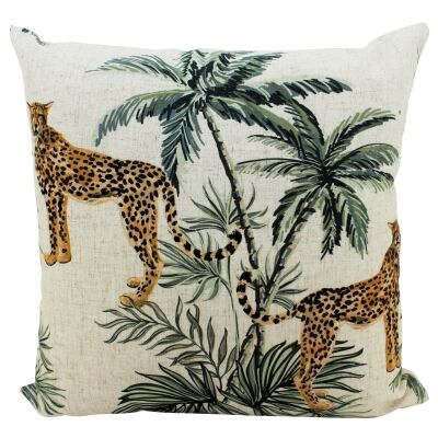 Cheetah Duo Doubled Sided Linen Scatter Cushion