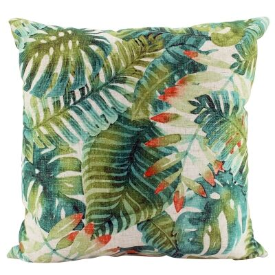 Nel Tropical Virid Doubled Sided Linen Scatter Cushion