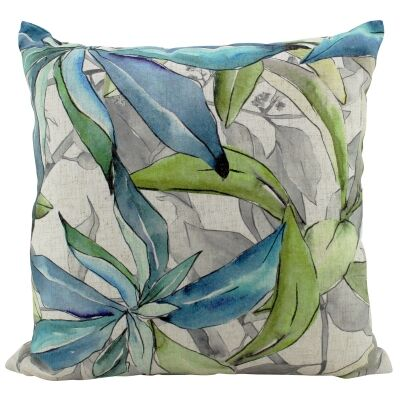 Aquelle Leaves Doubled Sided Linen Scatter Cushion