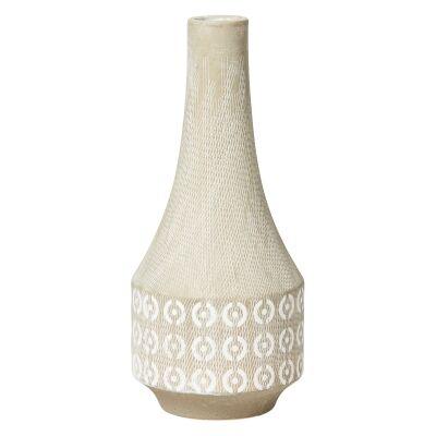 Zoniana Ceramic Vase, Medium, Light Grey