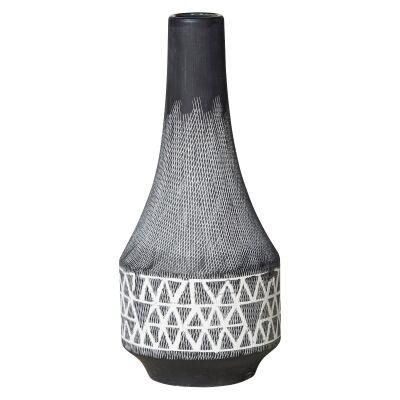 Platania Ceramic Vase, Medium, Charcoal
