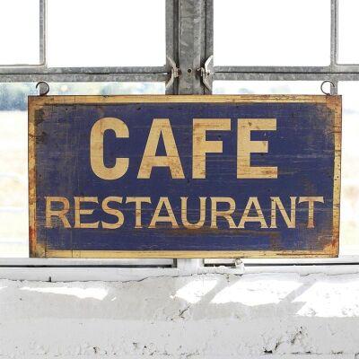 Cafe Restaurant Metal Wall Plaque