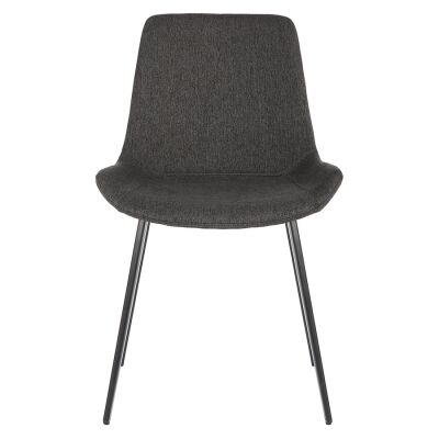 Cleo Commercial Grade Stain Resistant Waterproof Fabric Dining Chair, Black