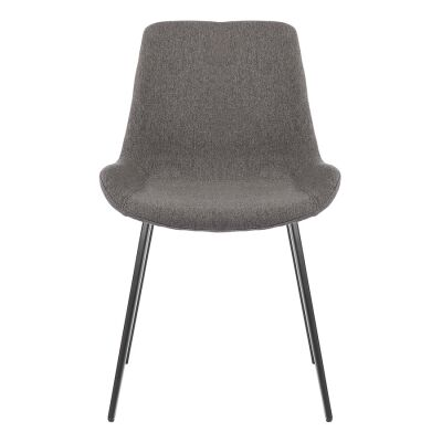 Cleo Commercial Grade Stain Resistant Waterproof Fabric Dining Chair, Dark Grey