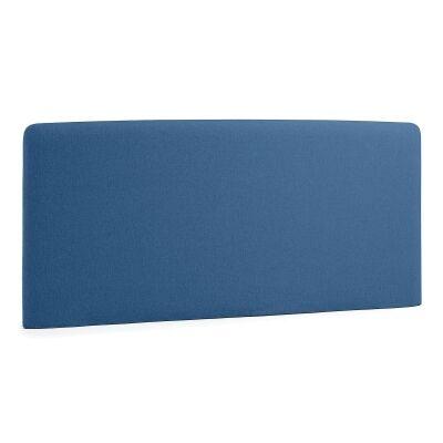 Sylvia Fabric Bed Headboard, Queen, Blue