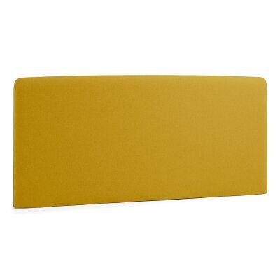 Sylvia Fabric Bed Headboard, Queen, Mustard