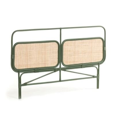 Cerasa Hand Crafted Bamboo Rattan Bed Headboard, Queen