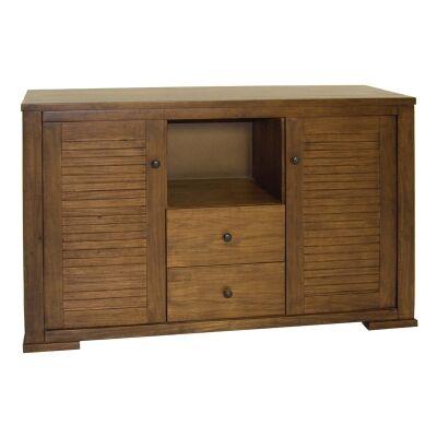 Huesca Mountain Ash Timber 2 Door 2 Drawer Buffet Table, 149cm