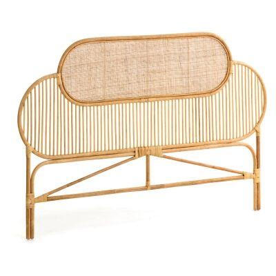 Otaki Handmade Bamboo Rattan Bed Headboard, Queen, Natural