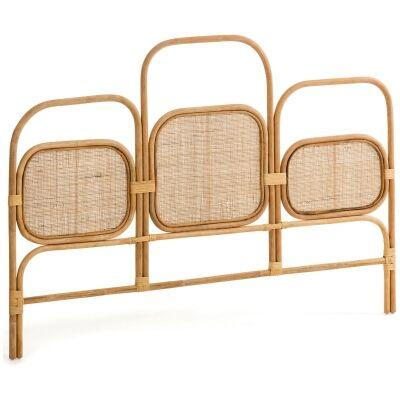 Khyber Handmade Bamboo Rattan Bed Headboard, Queen