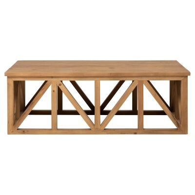 Avignon Teak Timber Coffee Table, 120cm