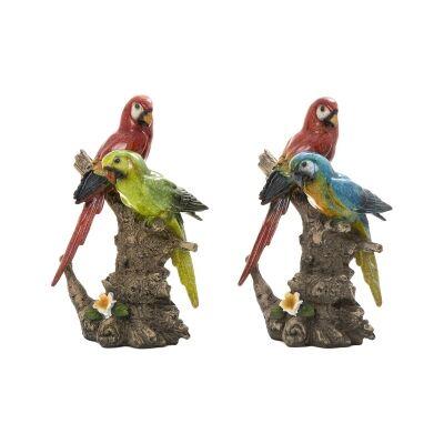 Umer 2 Piece Macaw Sculpture Set