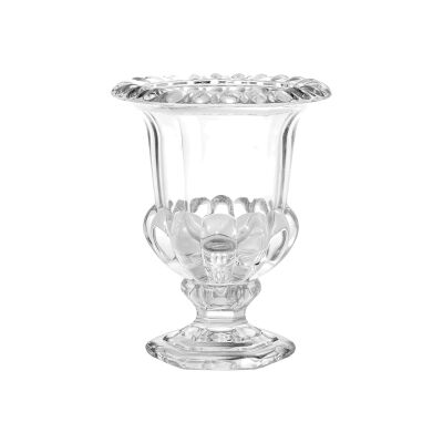 Vidor Glass Urn Vase, Clear