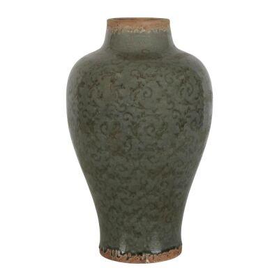 Somerset Ceramic Vase, Large, Thyme