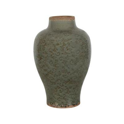 Somerset Ceramic Vase, Small, Thyme