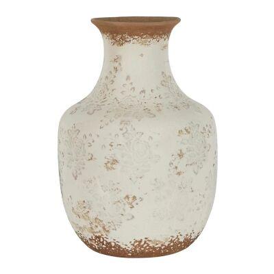 Clyde Ceramic Vase, Large, Cream