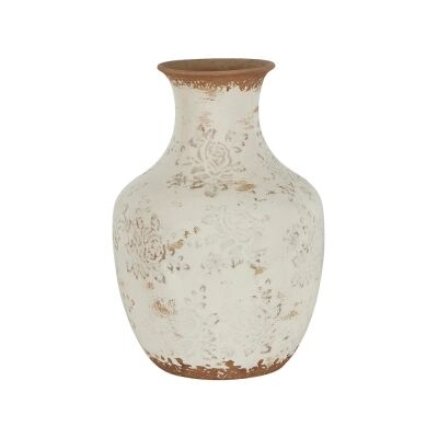 Clyde Ceramic Vase, Small, Cream